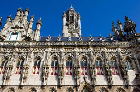 gildhalls: town hall, Middelburg, Zeeland, Netherlands Stock Photo
