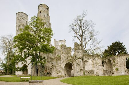 friaries: Abbey of Jumieges, Normandy, France Stock Photo