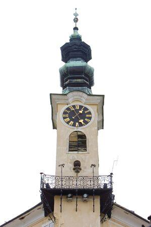 gildhalls: town halls detail, Banska Stiavnica, Slovakia