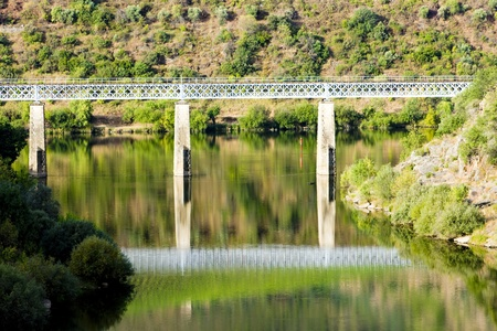 viaducts: railway viaduct in Douro Valley, Portugal