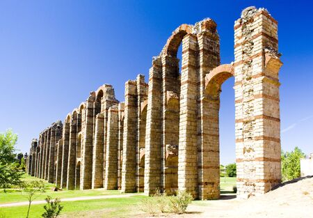 Aqueduct of Los Milagros, Merida, Badajoz Province, Extremadura, Spain photo