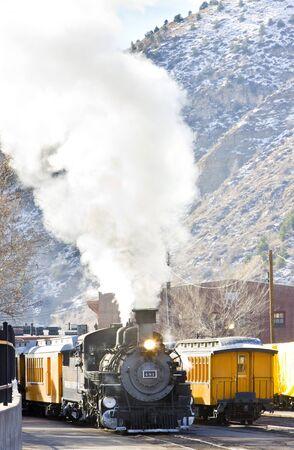 Durango   Silverton Narrow Gauge Railroad, Colorado, USA Stock Photo - 9191638
