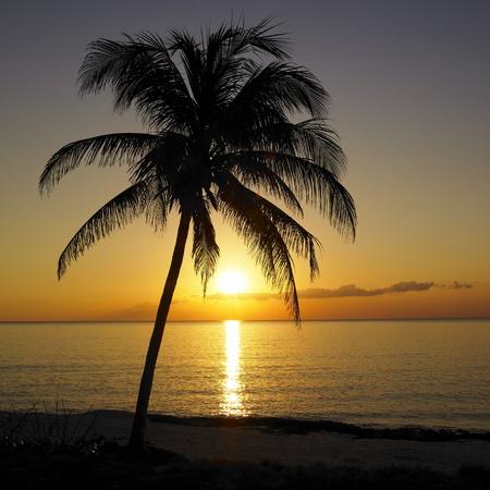 auroral: sunset over Caribbean Sea, Maria la Gorda, Pinar del Rio Province, Cuba
