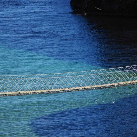 Carrick-a-rede Rope Bridge, County Antrim, Northern Ireland Stock Photo - 9417219