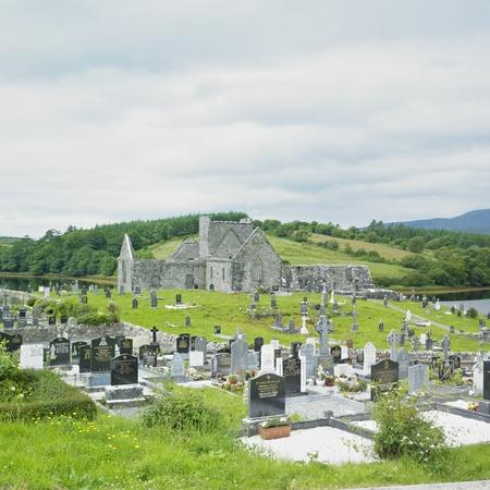friaries: ruins of Burrishoole Abbey, County Mayo, Ireland