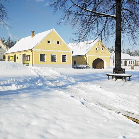 r�publique  tch�que: Holasovice en hiver, R�publique tch�que