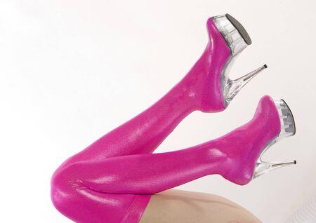 extravagancy: extravagant pink boots Stock Photo