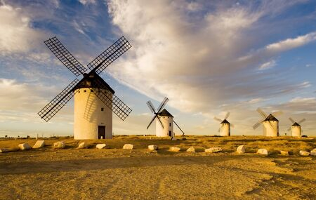 windmills, Campo de Criptana, Castile-La Mancha, Spain Stock Photo - 9417217