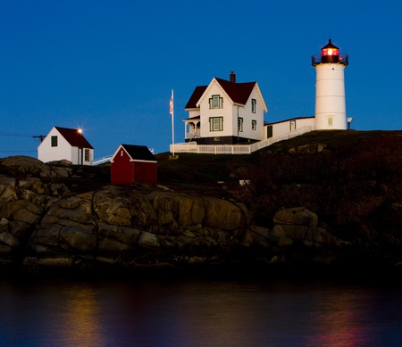 seascapes: Nubble Lighthouse, Cape Neddick, Maine, USA