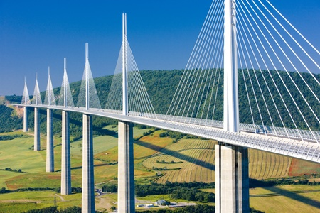 millau: Millau Viaduct, Aveyron Département, France