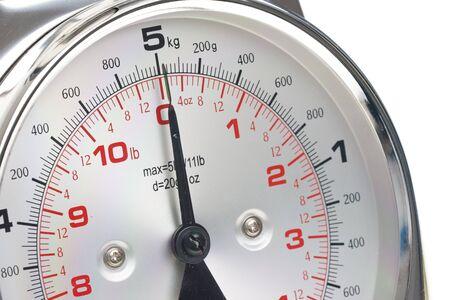 gewicht skala: Detail der K�chenwaage