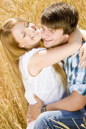 my dear: hugging couple Stock Photo