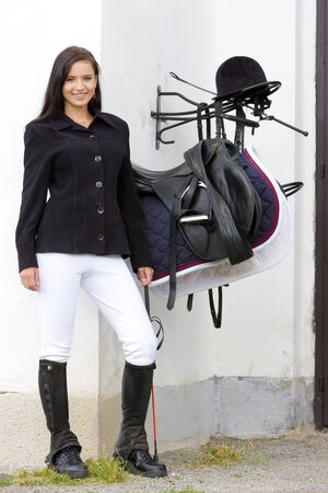 equestrian with saddle photo