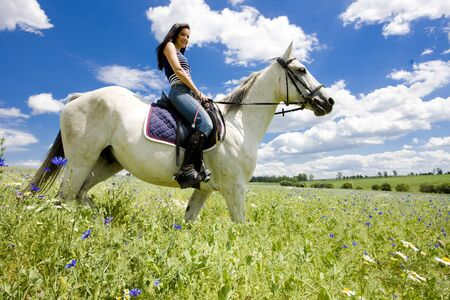 horse riding: equestrian on horseback