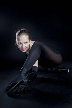 ballerina tights: ballet dancer in black clothes