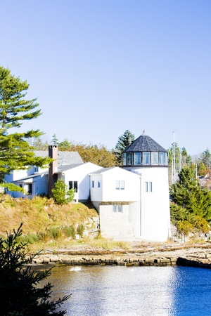 lighthouse, First Light Bed   Breakfast, Maine, USA photo