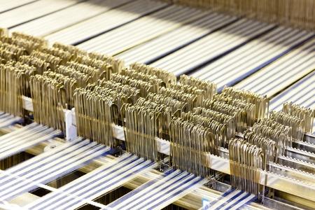 close up of textile machine photo