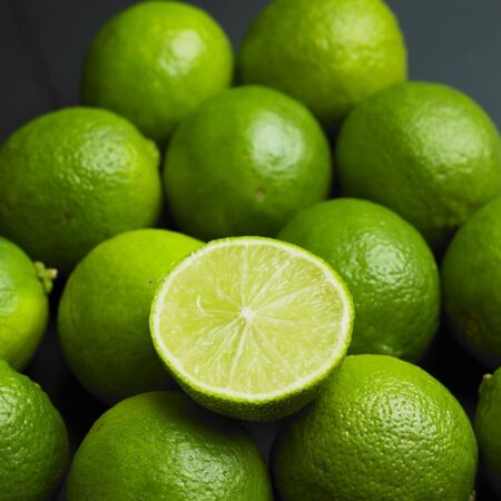 lime green: limes Stock Photo