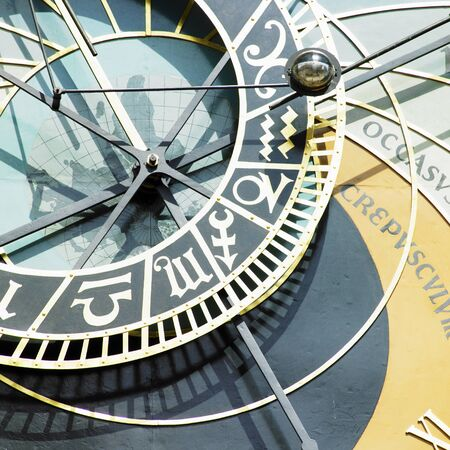 detail of Horloge, Old Town Hall, Prague, Czech Republic photo