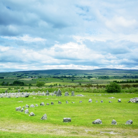 stone circles, Beaghmore, County Tyrone, Northern Ireland Stock Photo - 9744910