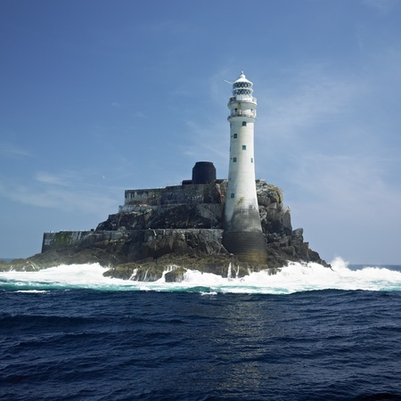 lighthouse, Fastnet Rock, County Cork, Ireland Stock Photo