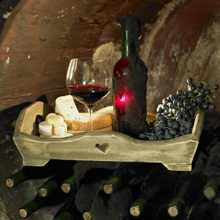 wine still life, Biza winery, Cejkovice, Czech Republic photo