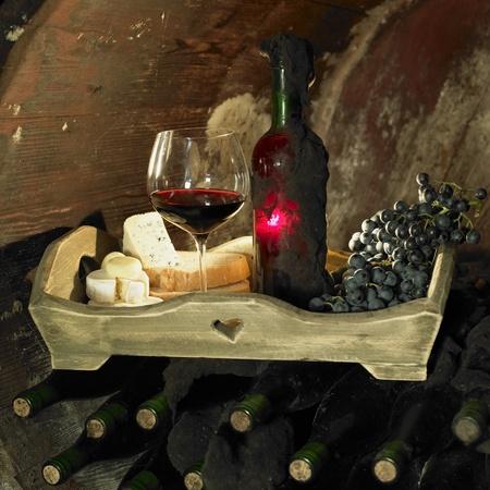 wine still life, Biza winery, Cejkovice, Czech Republic Stock Photo - 9744419