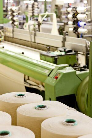 industria textil: m�quina textil