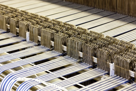 textile industry: close up of textile machine