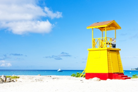 seascapes: cabin on the beach, Enterprise Beach, Barbados, Caribbean