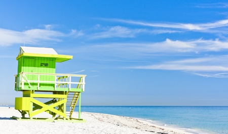 cabin on the beach, Miami Beach, Florida, USA Stock Photo - 9859988