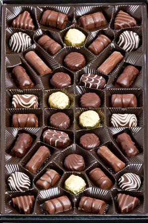 multiple choice: chocolate box Stock Photo
