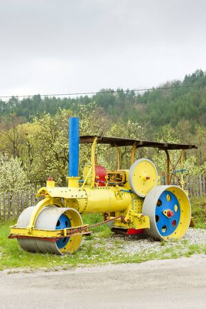 steam roller: steam roller, Mokra Gora, Serbia
