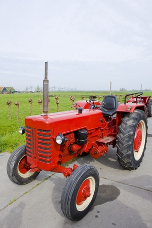 tractor, Noord Holland, Netherlands Stock Photo - 10420867