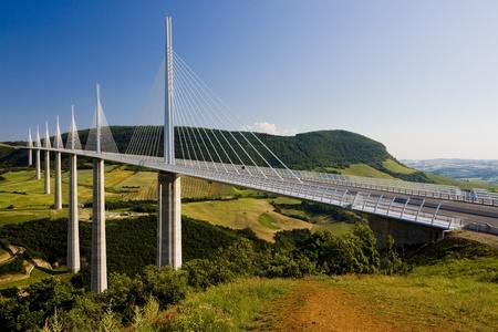 Viaduc de Millau, Aveyron Dpartement, France