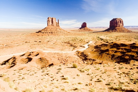 The Mittens and Merrick Butte, Monument Valley National Park, Utah-Arizona, USA photo