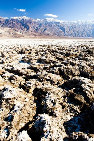 golf of california: Devil�s Golf Course, Death Valley National Park, California, USA Stock Photo