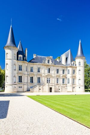 Chateau Pichon Longueville, Bordeaux Region, France Stock Photo