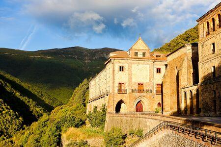 la: Nuestra Senora de Valvanera Monastery, La Rioja, Spain Stock Photo