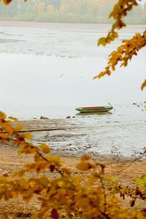 falltime: autumnal pond, Czech Republic Stock Photo