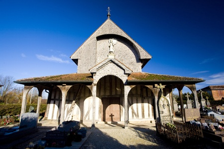 champagne region: church in Lentilles, Champagne, France Stock Photo