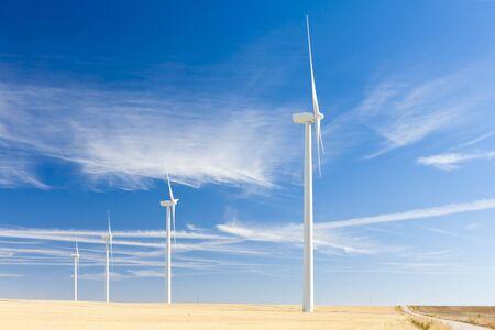 palencia province: wind turbines, Castile and Leon, Spain