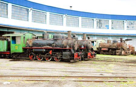 steam locomotives in depot, Kostolac, Serbia photo