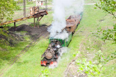 steam freight train, Kostolac, Serbia Stock Photo - 10546567