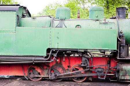 detail of steam locomotive, Kolubara, Serbia photo