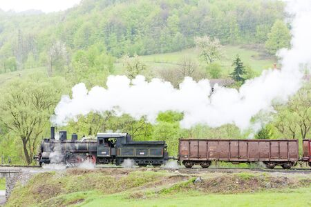 steam freight train (126.014), Resavica, Serbia Stock Photo - 10546485