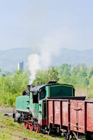 steam freight train, Durdevik, Bosnia and Hercegovina photo
