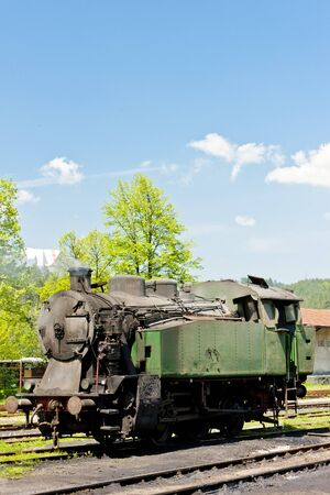 balkan peninsula: steam locomotive, delivery point in Oskova, Bosnia and Hercegovina
