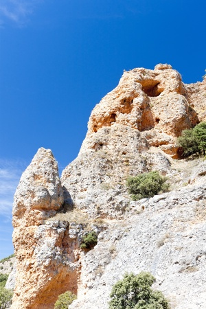 castilla: rock near San Pedro de Arlanza Monastery, Castile and Leon, Spain Stock Photo