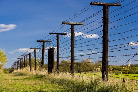 ilustrations: remains of iron curtain, Cizov, Czech Republic